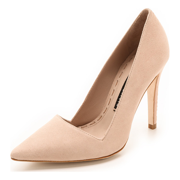 ALICE + OLIVIA Makayla suede pumps - An angular top line and pointed toe lend a polished look to...