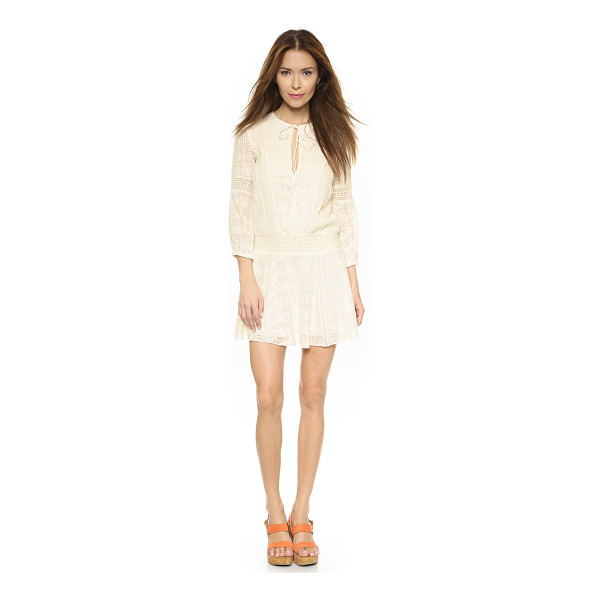 ALICE + OLIVIA Margaux smocked dropwaist dress - Mesh insets and intricate embroidery give this alice +...