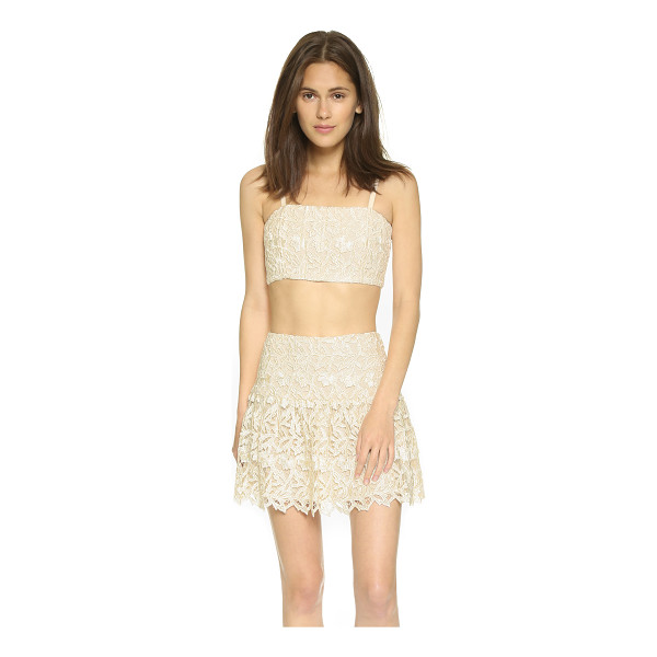ALICE + OLIVIA Marisol lace bustier top - An alice + olivia crop top made from elegant lace. Longline...