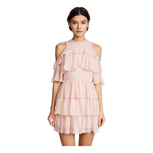 ALICE + OLIVIA nichola ruffle party dress - Fabric: Silk chiffon Shoulder cutouts Mini dress cut Crew...