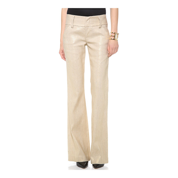 "ALICE + OLIVIA Olivia wide waistband pants - ""An Alice + Olivia classic in slick metallic, these..."