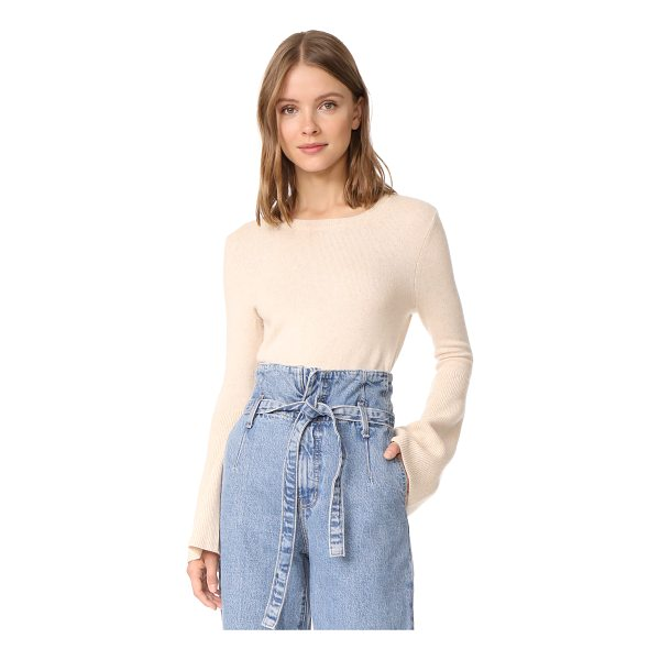 ALICE + OLIVIA parson sweater - Long bell sleeves bring an unexpected look to this cropped...