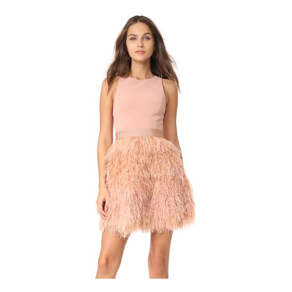 ALICE + OLIVIA philomena feather dress - Dense ostrich feathers add eye-catching volume to this...