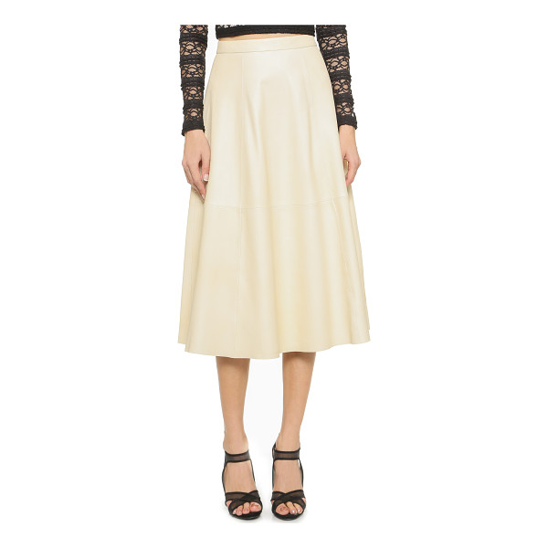 ALICE + OLIVIA Sasha leather flare skirt - A flared alice + olivia skirt styled in luxe leather....