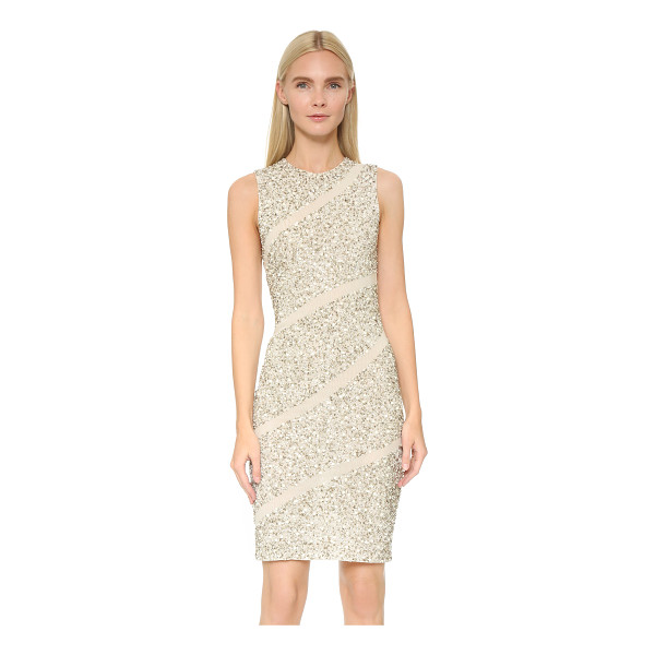 ALICE + OLIVIA Sitara embellished dress - A fitted alice + olivia dress rendered in double layered...