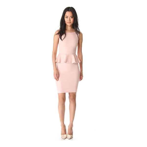ALICE + OLIVIA Tracey sleeveless peplum dress - A glimmer of metallic thread adds glamour to a figure...