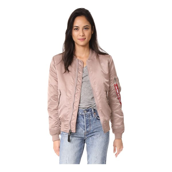 ALPHA INDUSTRIES ma-1 reversible bomber jacket - This reversible Alpha Industries bomber jacket has one...