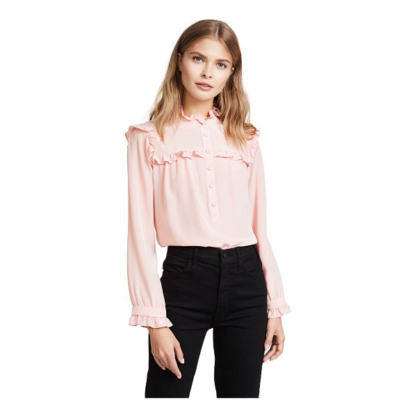 AMANDA UPRICHARD adalyn top - Charming ruffles accent this airy silk Amanda Uprichard...