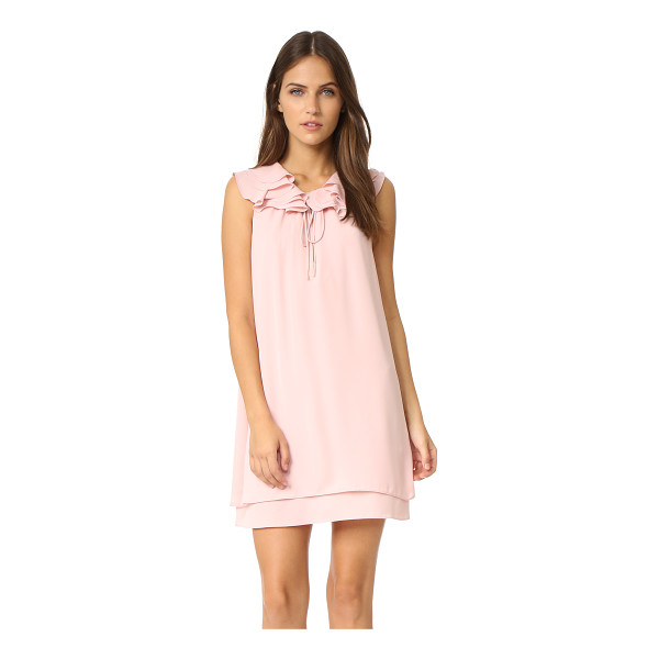 AMANDA UPRICHARD belle dress - A slinky crepe Amanda Uprichard dress with a ruffle trimmed...