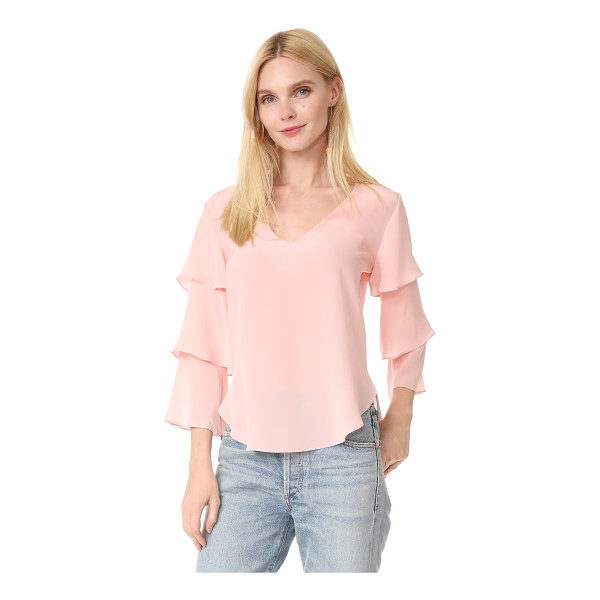AMANDA UPRICHARD budapest top - Exclusive to Shopbop. Tiered sleeves bring graceful volume...