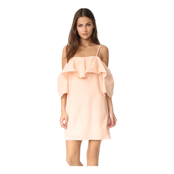 AMANDA UPRICHARD marise dress - A draped overlay accents the open-shoulder neckline on this...