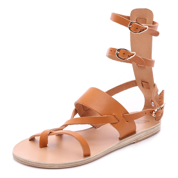 ANCIENT GREEK SANDALS Ancient Greek Sandals Alethea Mid Sandals - Elegant Ancient Greek Sandals in a gladiator silhouette.