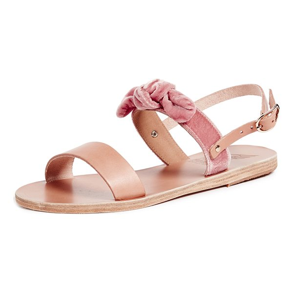 ANCIENT GREEK SANDALS clio bow sandals - Fabric: Velvet Leather: Cowhide Leather lined Signature...
