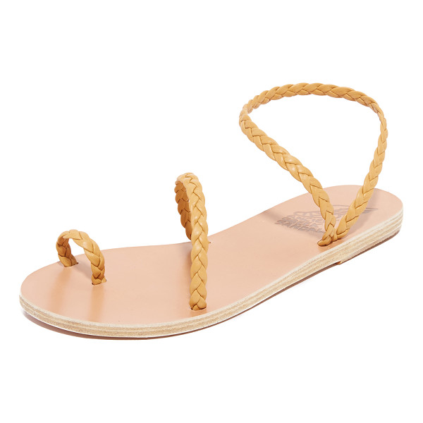 ANCIENT GREEK SANDALS eleftheria sandals - Braided straps bring refined elegance to these flat,