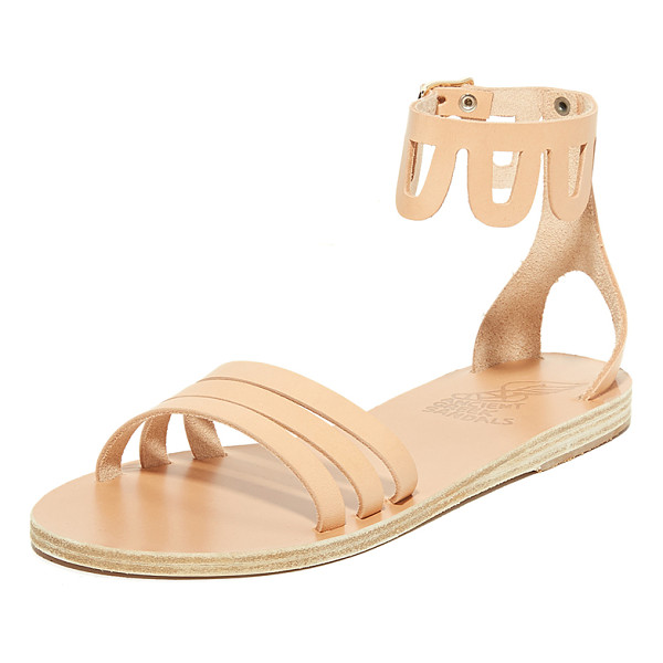 ANCIENT GREEK SANDALS omorfi sandals - Flat Ancient Greek Sandals styled with a scalloped, cutout