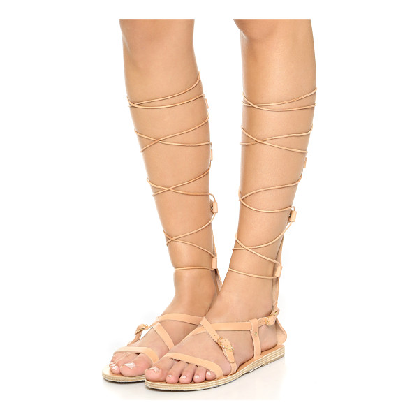 ANCIENT GREEK SANDALS Sofia high sandals - A soft panel cups the calf on these Ancient Greek Sandals...