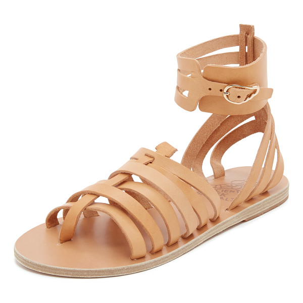 ANCIENT GREEK SANDALS Zaira gladiator sandals - Slim straps of smooth leather compose these ankle high...