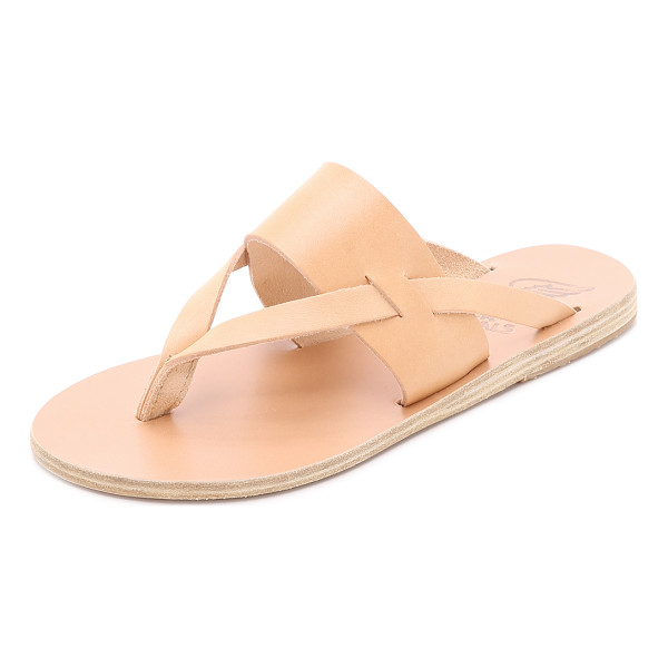 ANCIENT GREEK SANDALS Zenobia sandals - Elegant Ancient Greek Sandals in sturdy, woven leather.