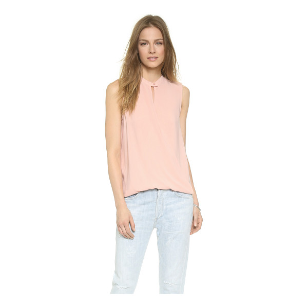 AND B Signature sleeveless twist front blouse - Crossover panels twist at the hem of this airy And B...
