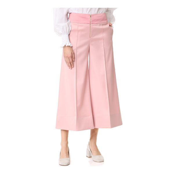 ANNA OCTOBER cropped wide leg trousers - These cropped, wide-leg Anna October trousers have a modern...