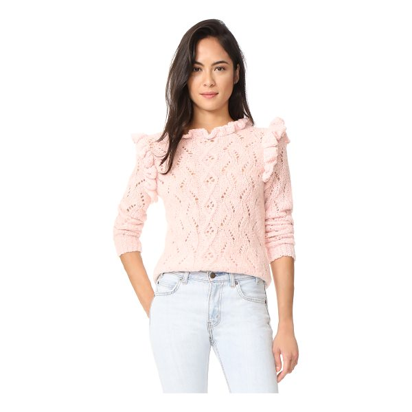 ANTIK BATIK melody ruffle sweater - Flounced ruffles complement the feminine feel of this...