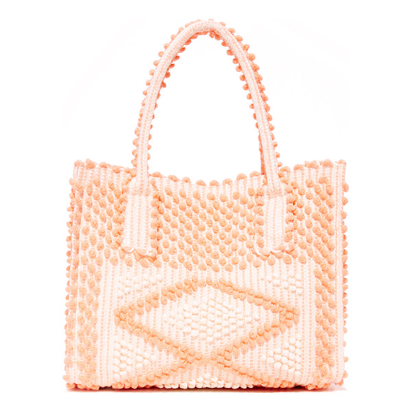 ANTONELLO fronte shoulder bag - Small pom-poms form a geometric pattern on this roomy...