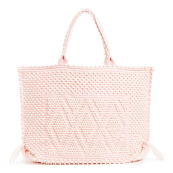 ANTONELLO large capriccioli rombi tote - Rows of small pom-poms form raised stripes on this slouchy...