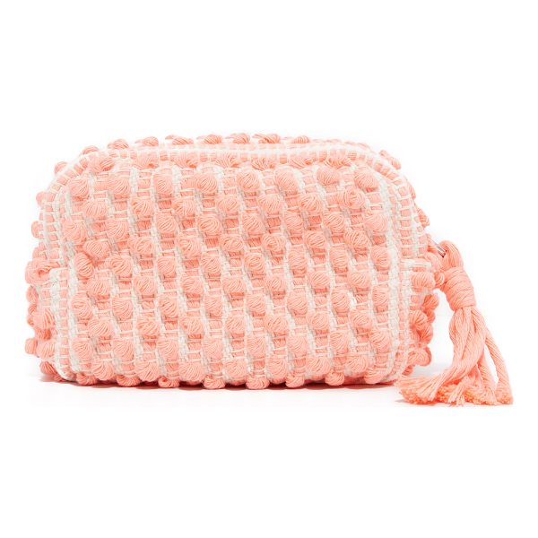 ANTONELLO littu pouch - This soft Antonello pouch is accented with colorful popcorn...