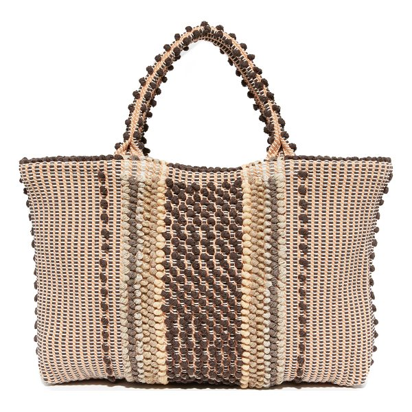 ANTONELLO telti atunzu tote - A striped Antonello tote with soft texture and tiny...