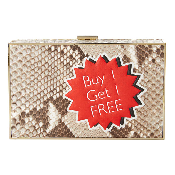 ANYA HINDMARCH Imperial python clutch - An Anya Hindmarch minaudiere in luxe python leather. An