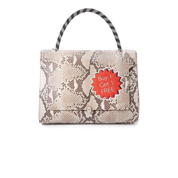 ANYA HINDMARCH Python bathurst satchel - A large Anya Hindmarch tote in luxe python leather. An...
