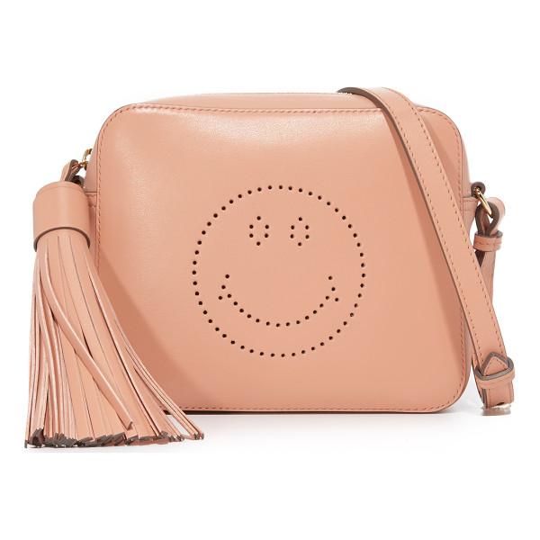 ANYA HINDMARCH smiley cross body bag - A boxy Anya Hindmarch cross-body bag with a perforated...