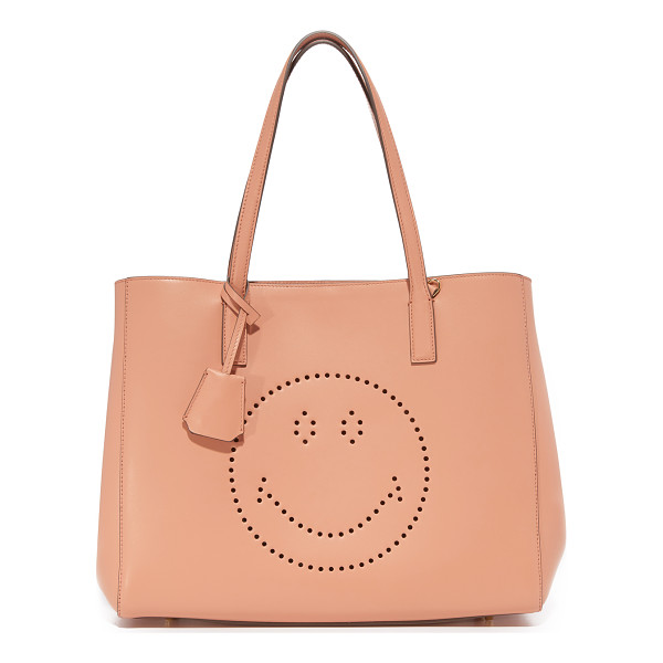ANYA HINDMARCH smiley ebury shopper tote - This roomy Anya Hindmarch tote gains charm from a