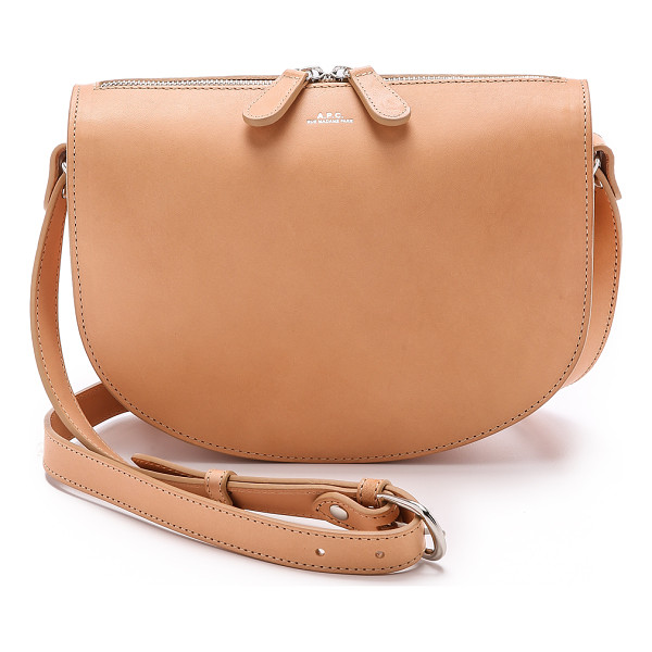A.P.C. Andrea bag - This saddle style A.P.C. bag is crafted from smooth...