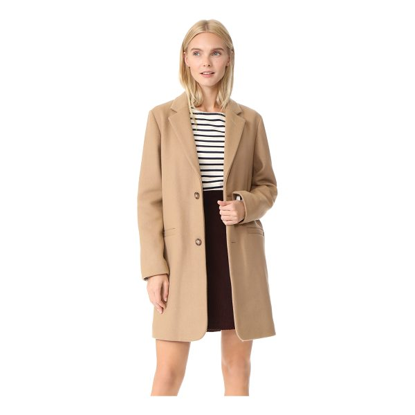 A.P.C. carver coat - An understated overcoat from A.P.C, crafted in a soft wool...