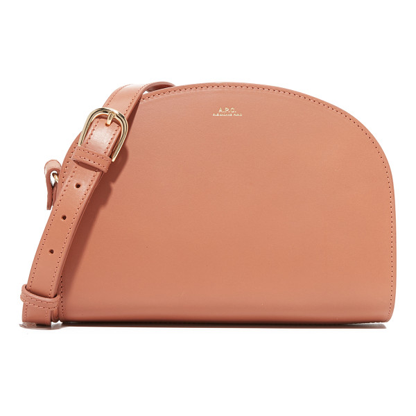 A.P.C. A.P.C. Half Moon Bag - A timeless A.P.C. shoulder bag in smooth leather, accented
