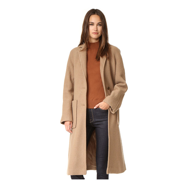 APIECE APART taos wrap coat - A cozy wool Apiece Apart coat. Notched lapels join at the...