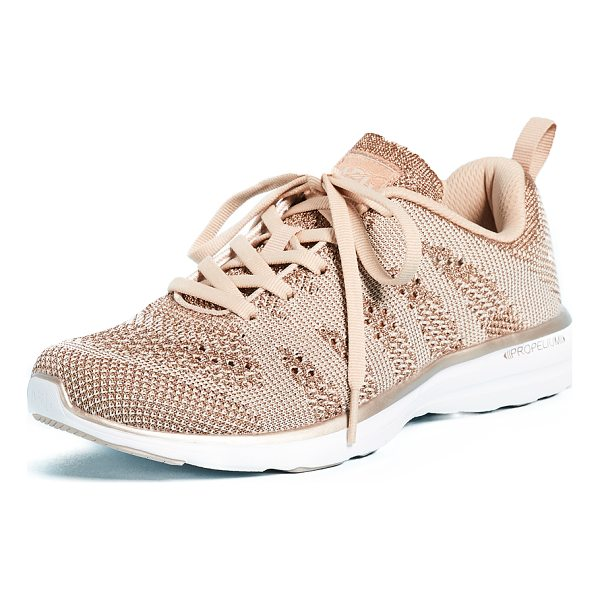 APL: ATHLETIC PROPULSION LABS techloom pro sneakers - Mixed stitch patterns accent the fused knit upper of these...