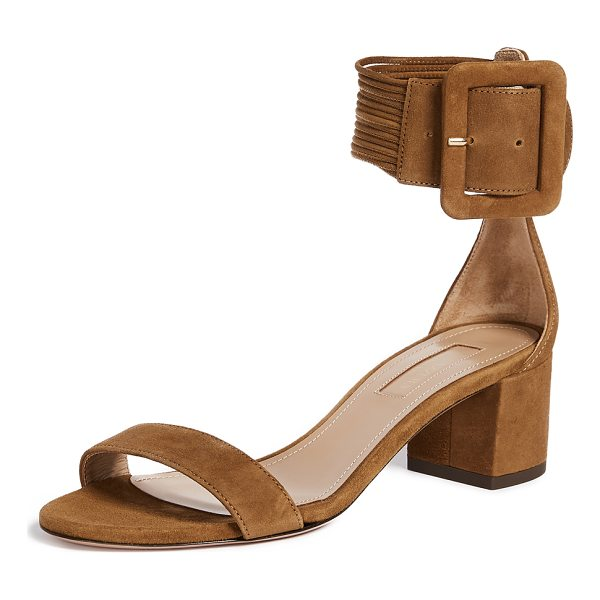 AQUAZZURA casablanca 50 sandals - Chunky Aquazzura sandals crafted in brushed suede. The wide...