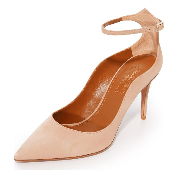 AQUAZZURA dolce vita pumps - Suede Aquazzura pumps styled with a sculpted top line and a...