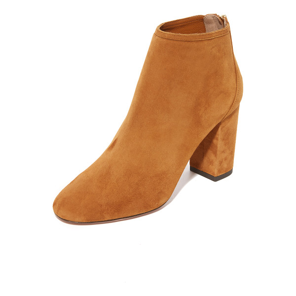 AQUAZZURA downtown booties - A sculpted heel cap lends a layered look to these luxe