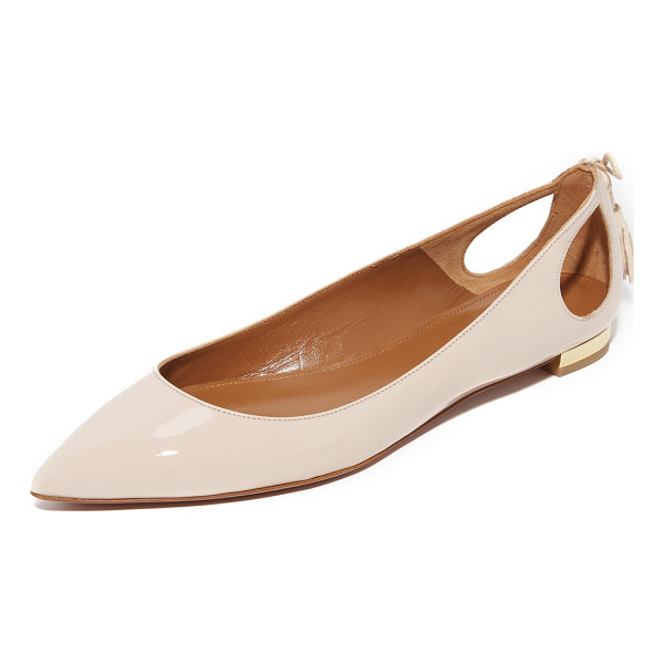 AQUAZZURA forever marilyn flats - These chic, patent leather Aquazzura flats are fashioned