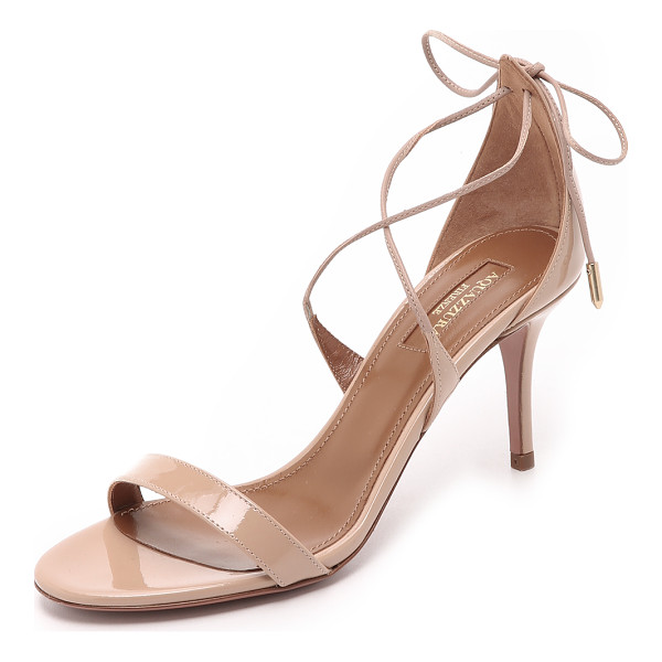 AQUAZZURA Linda sandals - Slender straps crisscross and tie at the heel of these