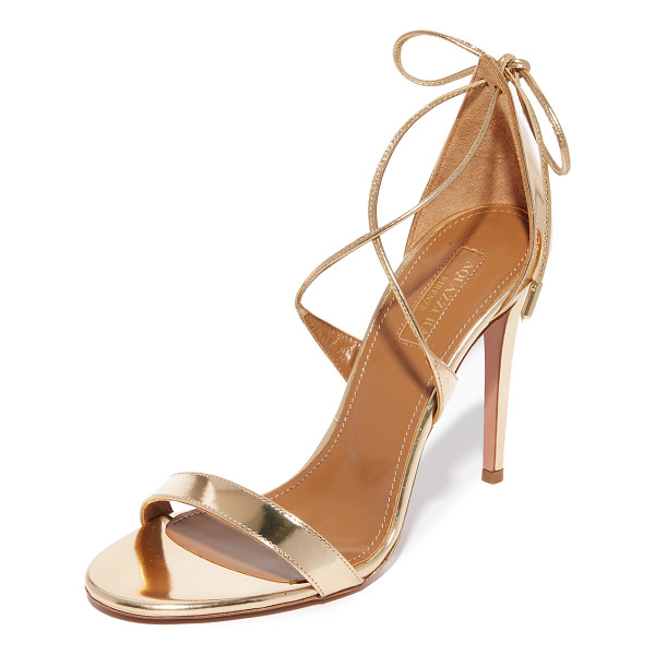 AQUAZZURA linda sandals - Slender straps crisscross and tie at the heel of these...