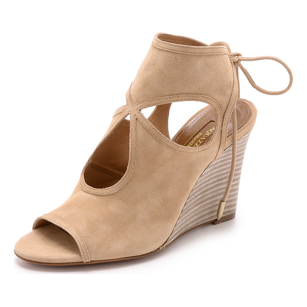 AQUAZZURA Sexy thing wedge sandals - Signature Aquazzura Sexy Thing sandals get a classic update...
