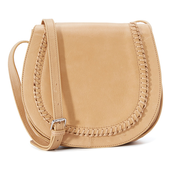 ASH Clover saddle bag - A soft leather Ash saddle bag with whipstitch accents. The