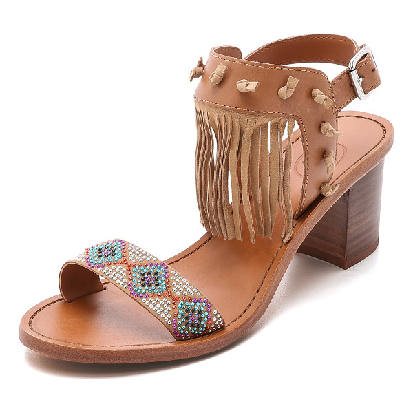 ASH Patchouli fringe sandals - Colorful studs create a beaded look along the vamp of these...