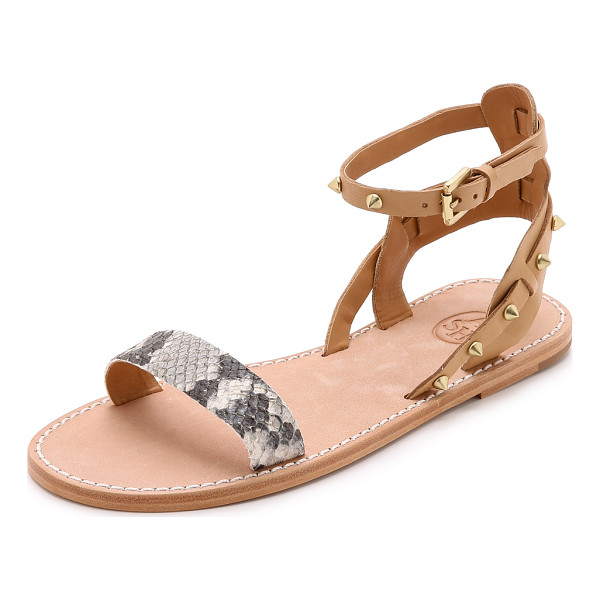 ASH Podium sandals - Studded straps and a snake embossed vamp bring an edgy look