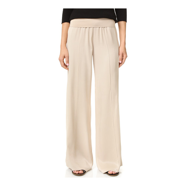 ATM ANTHONY THOMAS MELILLO pull on palazzo pants - Wide leg ATM Anthony Thomas pants rendered in slinky...