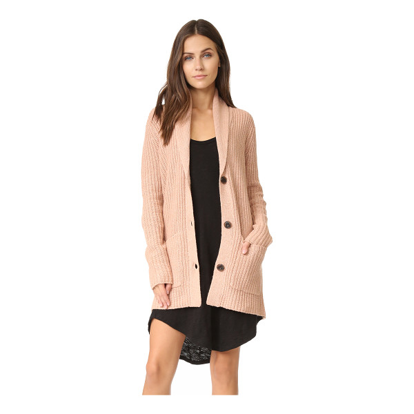 ATM ANTHONY THOMAS MELILLO Shawl collar sweater coat - A ribbed knit ATM Anthony Thomas Melillo cardigan, styled...